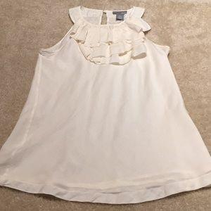 Rafaella Ellavie Silk/cotton ruffleneck sleeveless